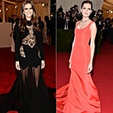 Allison Williams at the 2013 and 2014 Met Galas