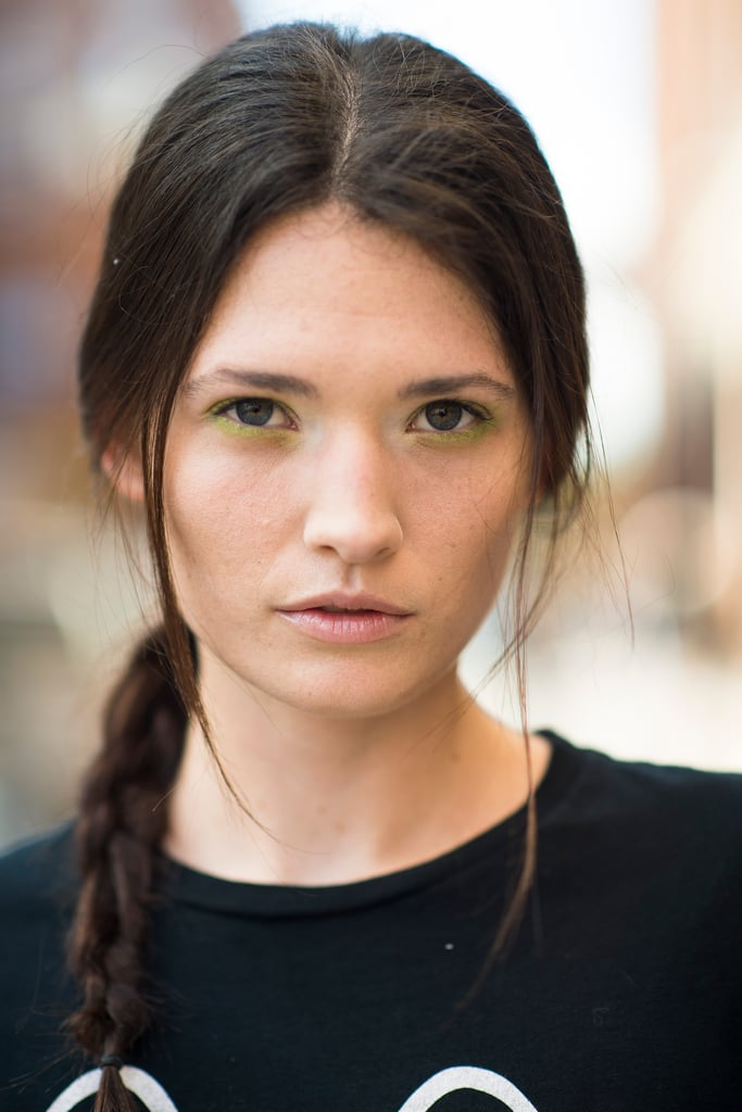 Green lids and braids from Costello Tagliapietra looked gorgeous on this model. Source: Le 21ème | Adam Katz Sinding
