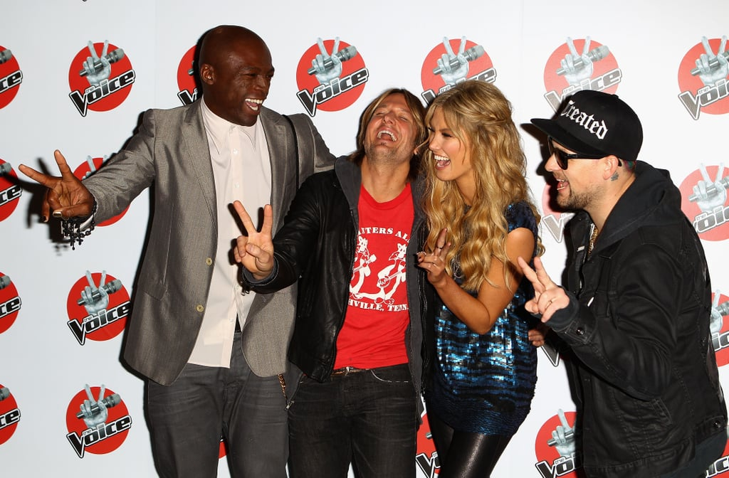 The coaches on The Voice joked around at the press conference on June 12.