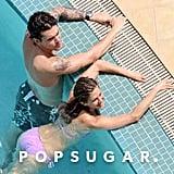 Jennifer floated in the pool alongside then-boyfriend John Mayer in May 2010.