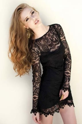 For Love and Lemons long-sleeve lace dress ($159)