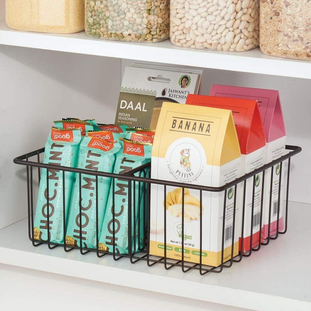 mDesign Metal Kitchen Food Storage Container Lid Holder ...
