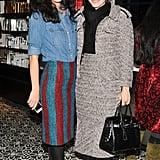 Patricia Herrera Lansing and Julie Macklowe at the Red Door Spa opening in New York.