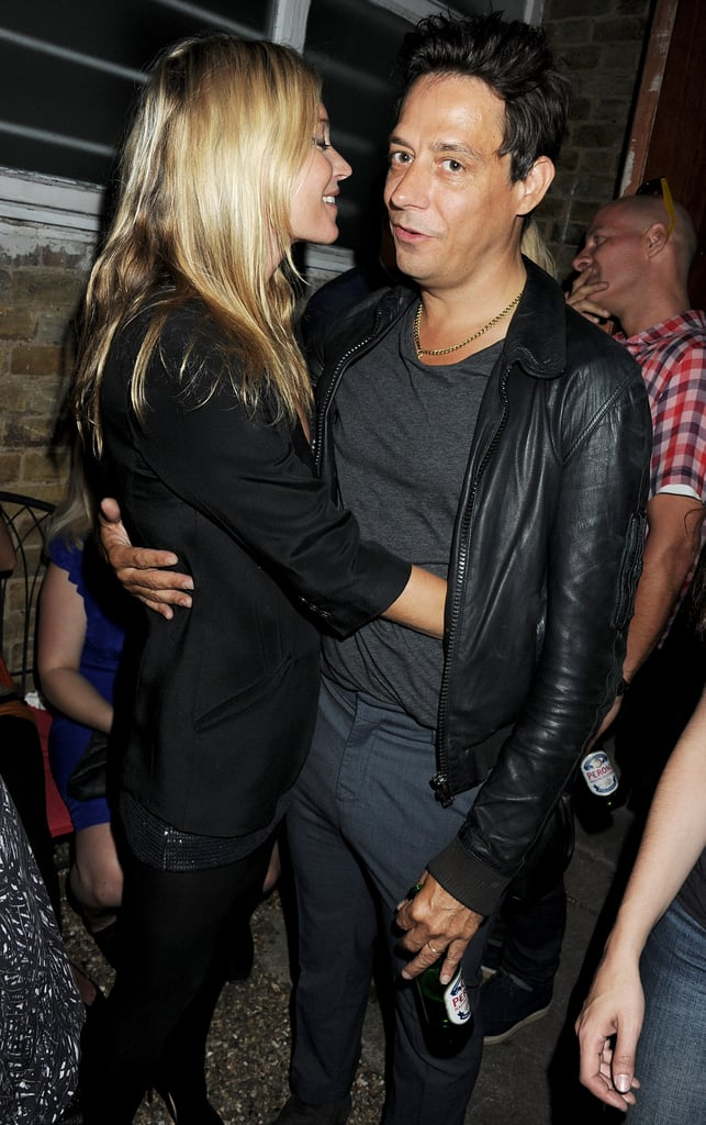 "Just-married Kate Moss and Jamie Hince had their third night out in a row in London yesterday, revisiting the White Cube gallery, which they also checked out Monday, for a new exhibit from their artist friends Jake and Dinos Chapman. The show, called ""Jake or Dinos Chapman,"" brought out other well-known Londoners like Jade Jagger, Lily Cole, and Kelly Osbourne, but newlywed Kate and Jamie were the toast of the event. The happy couple recently returned from their Mediterranean honeymoon cruise and threw themselves back into the social whirl. Kate and Jamie dined with a friend Tuesday at the Wolseley, running into none other than Joan Rivers there, before hitting the restaurant Zuma on Wednesday with Topshop's Philip Greene."