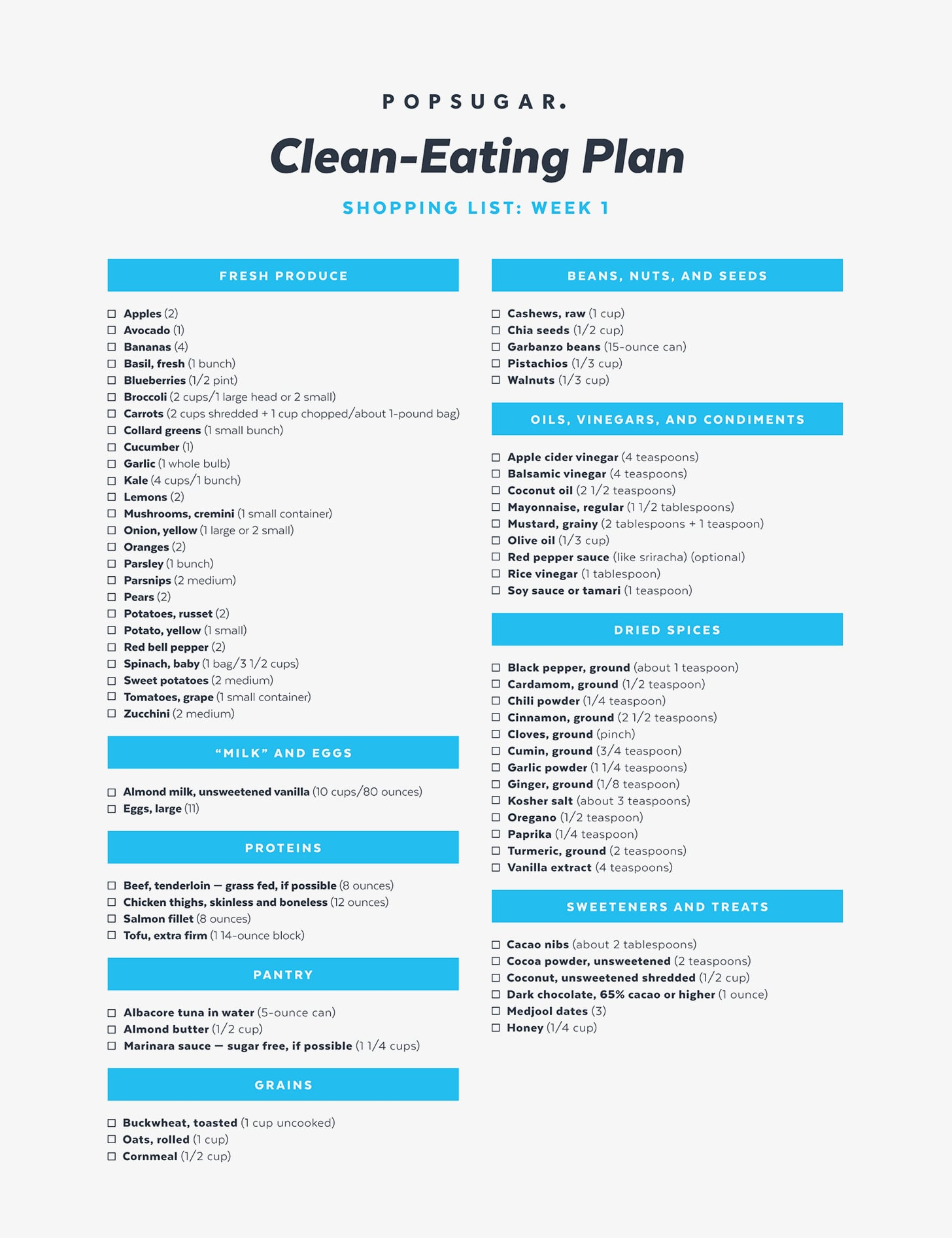 This is an image of Priceless Clean Eating Food List Printable
