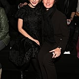 Jessica Stam went monochrome at the Marc by Marc Jacobs show with a friend in the front row.