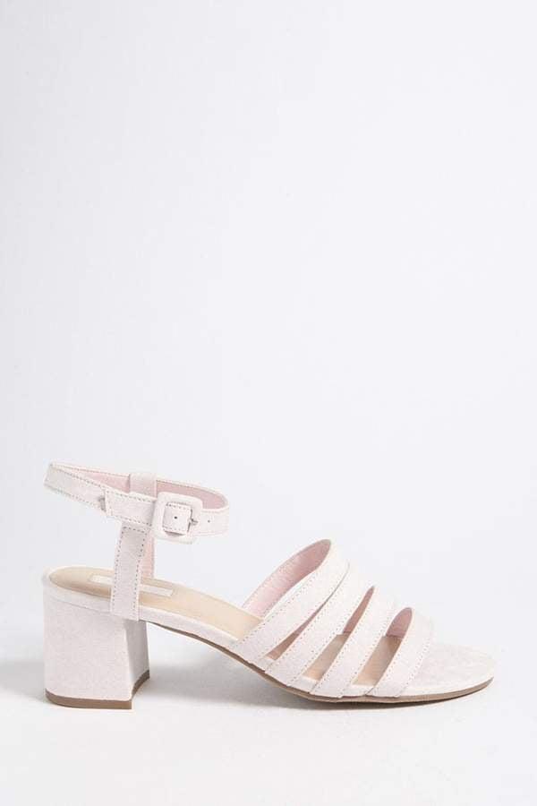 Forever 21 Faux Suede Block Heel Sandals