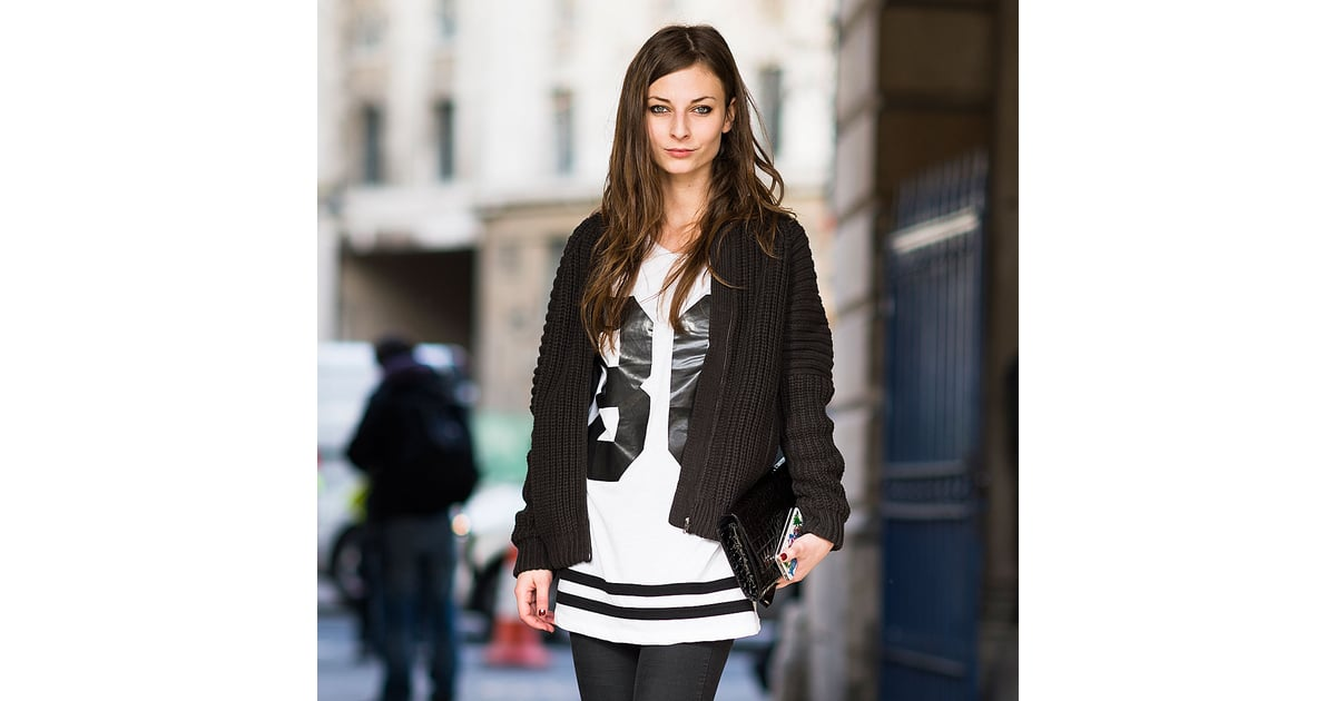 Black And White Street Style Trend At Fashion Week 2013 Popsugar Fashion
