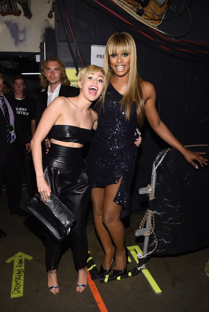 Miley Cyrus and Laverne Cox