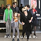 Hugh Jackman arrived in Sydney, Australia, with his wife, Deborra-Lee Furness, and their kids, Oscar and Ava.