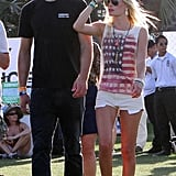 Kate Bosworth's Coachella cool is nearly iconic — we'll forever think of these white cutoffs and flag-print shirt as one the coolest interpretations of modern, street-styled Americana.