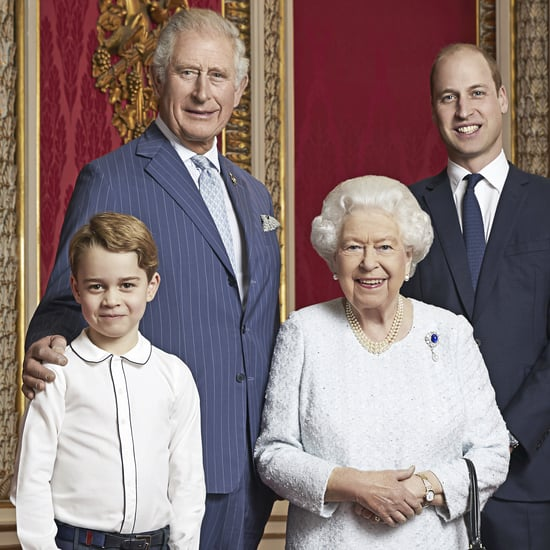 Prince George Portrait With the Queen, Charles, and William