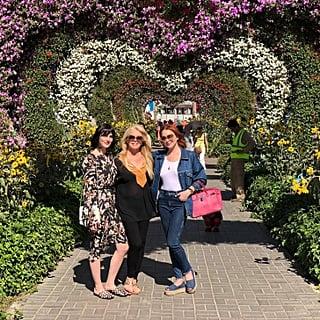 ليندسي لوهان تزور حديقة دبي ميراكل غاردن