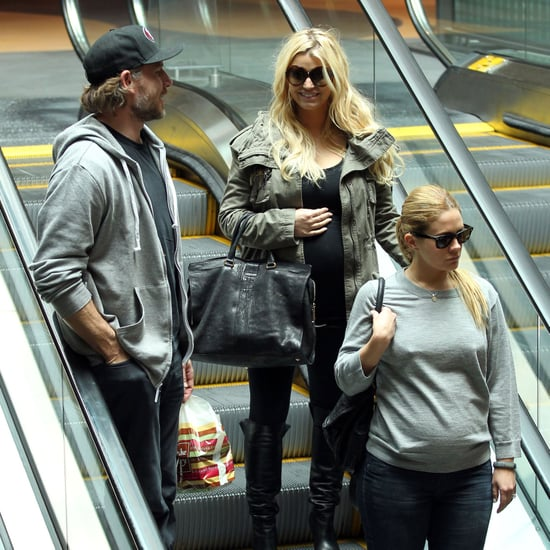 Pregnant Jessica Simpson at Lunch With Eric Johnson