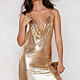 Nasty Gal! You've Got Chainmail Cowl Dress