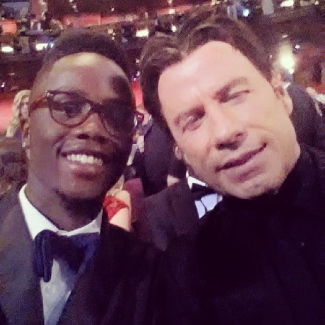 "And an Oscars Selfie With His ""Buddy"" John Travolta"