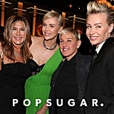 Jennifer Aniston, Charlize Theron, Ellen DeGeneres, and Portia de Rossi at the 2020 Golden Globes