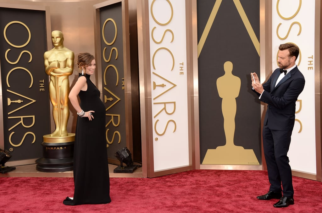 Jason Sudeikis and Olivia Wilde at the Oscars 2014