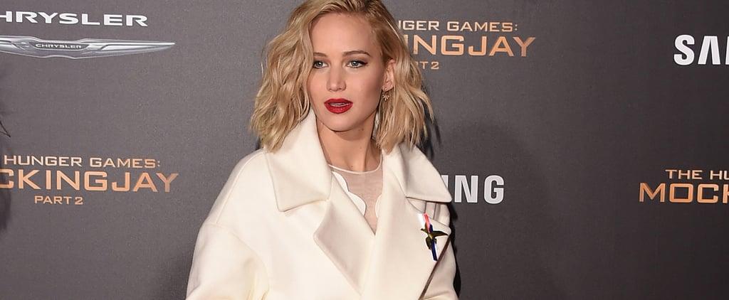Jennifer Lawrence in Dior at Los Angeles Mockingjay Premiere