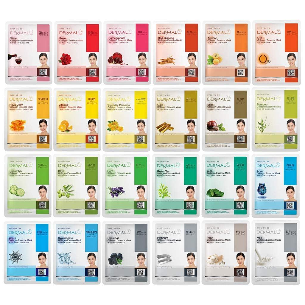 DERMAL Collagen Sheet Mask Set
