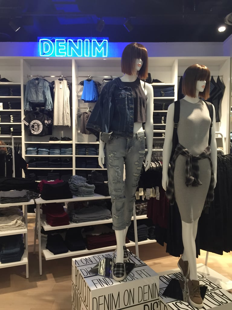 The denim section is one of the most popular and prices start from $12.95