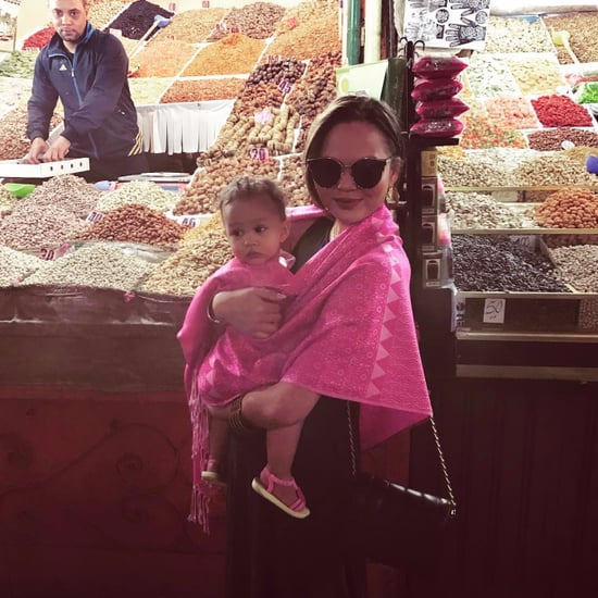 Chrissy Teigen and John Legend Vacation in Morocco 2017