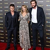 Luke, Samantha and Liam Hemsworth.