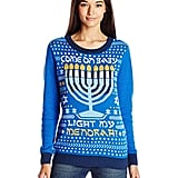 "Ugly Hanukkah Sweater Women's ""Light My Menorah"""