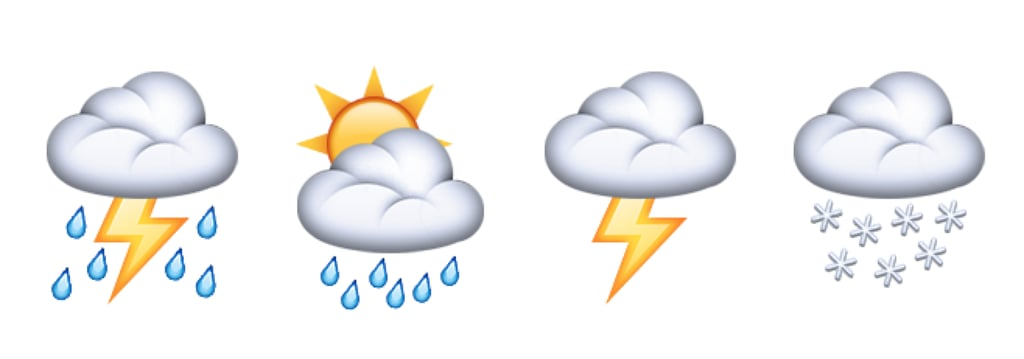 New cloud emoji for all your weather-related needs