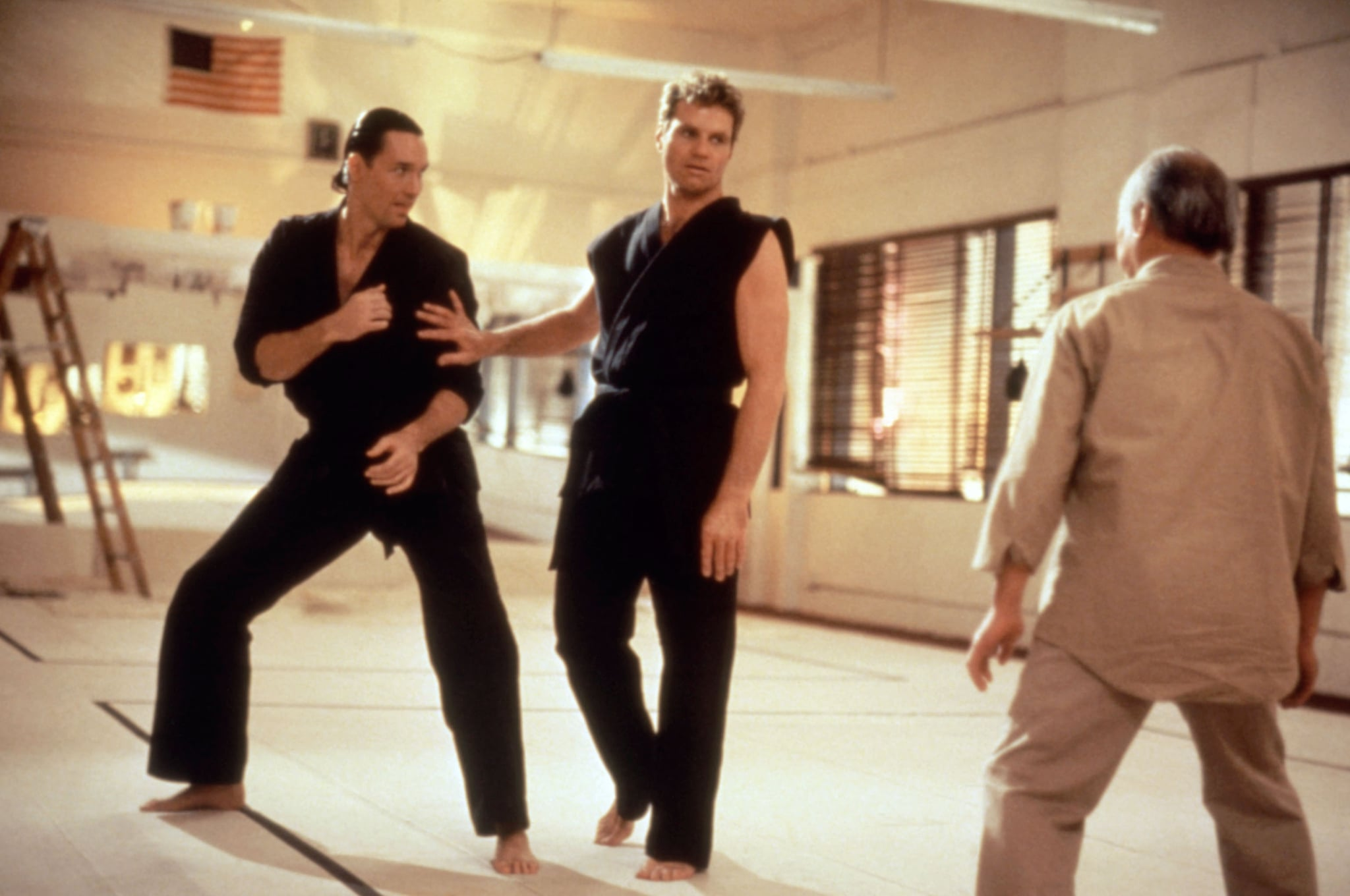 THE KARATE KID, PART III, Pat Morita (far right), 1989. Columbia Pictures/Courtesy Everett Collection