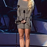 Britney Spears was on stage at the Grammy tribute to Whitney Houston in LA.
