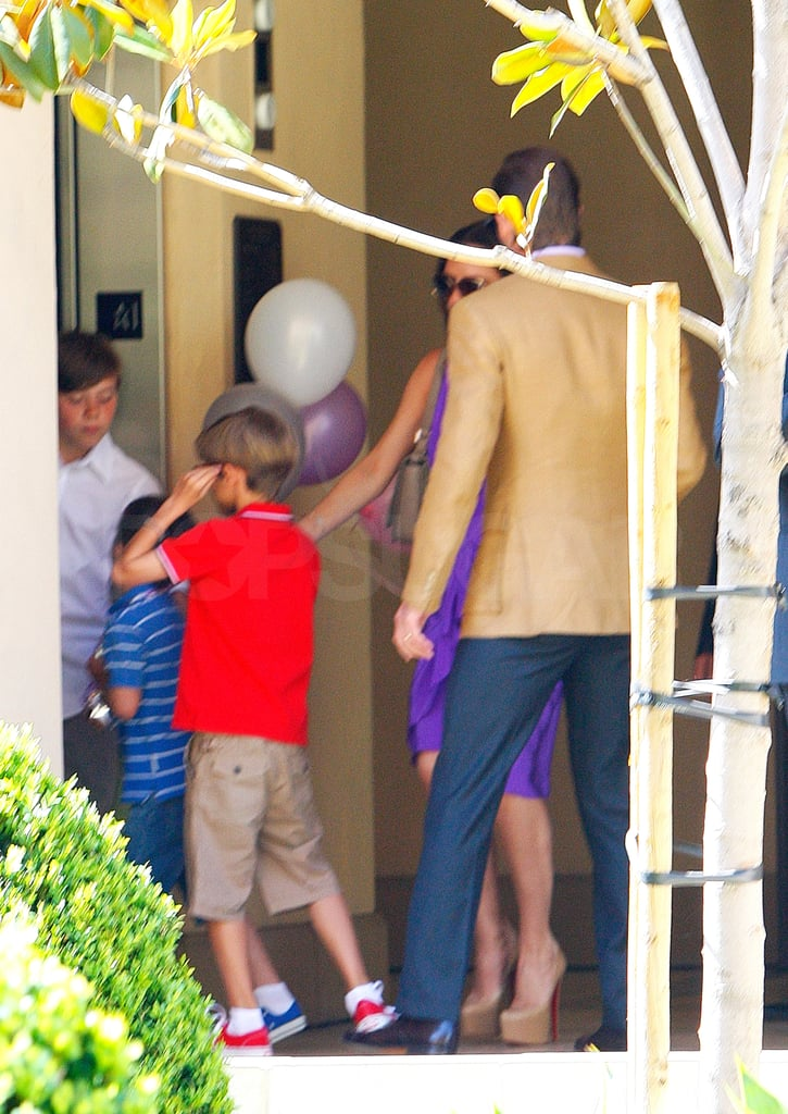 Victoria Beckham Rings in 37 With Her Four Boys and Parents!