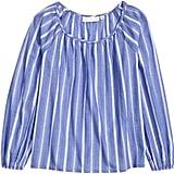 H&M Blue Cotton Blouse ($25)
