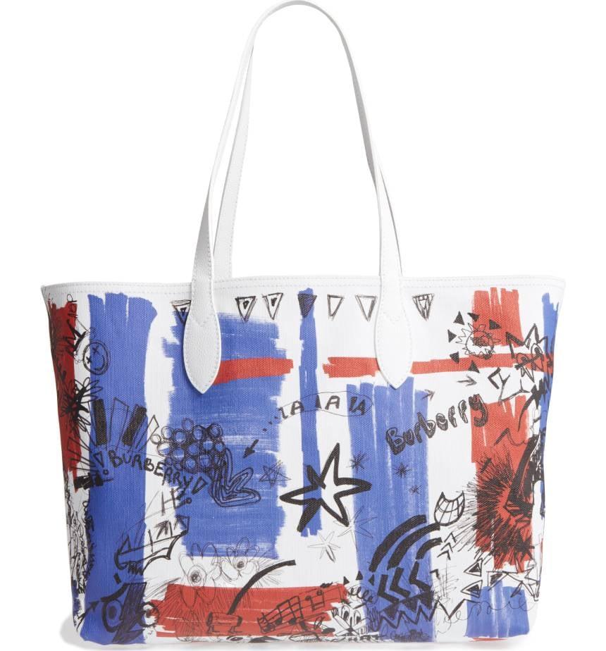 graffiti purse - Blue Burberry UJGHzcF