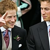 In April 2005, Prince Harry and Prince William were all dressed up when Prince Charles tied the knot with Camilla, Duchess of Cornwall.