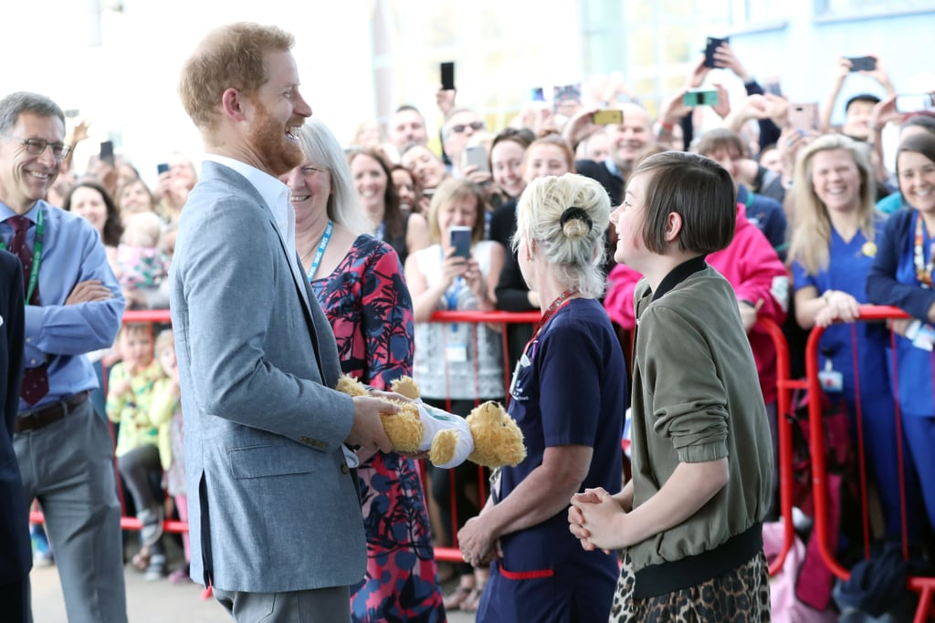 Prince Harry Couldn't Stop Smiling When He Received a Cute Teddy Bear For Archie