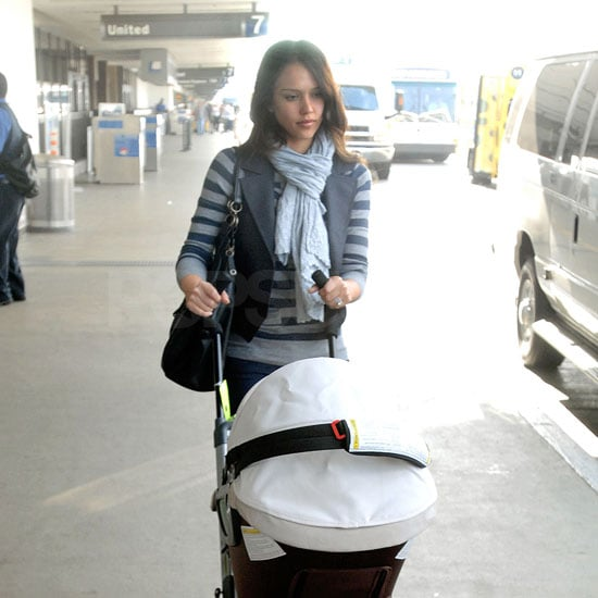 Photos of Jessica Alba and Honor Warren at LAX Airport