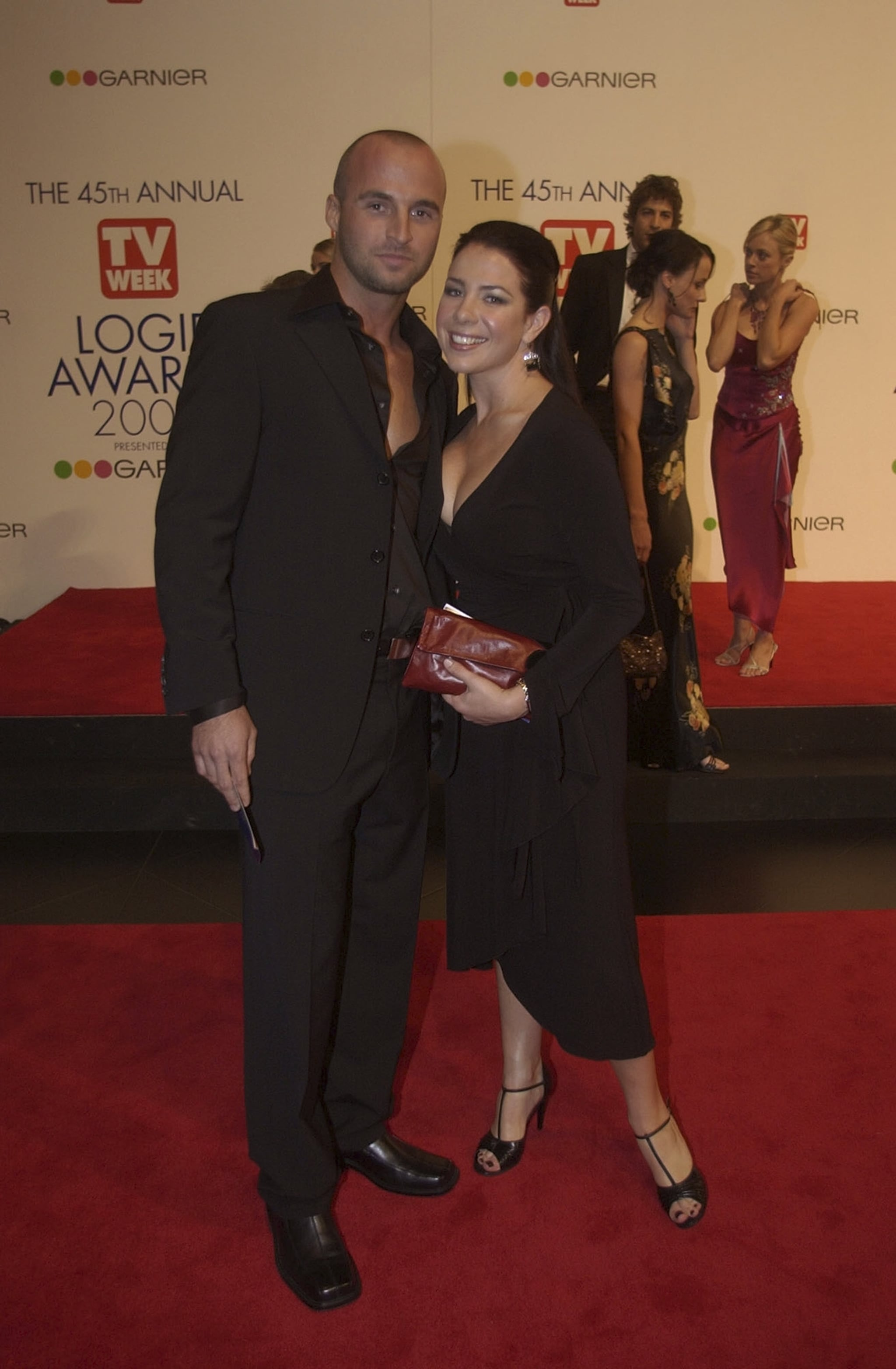 MELBOURNE - MAY 11:  Ben Unwin and Kate Ritchie arriving on the red carpet for the 45th Annual TV Week Logie Awards 2003 held at the Crown Casino, Melbourne, Australia. (Photo by Patrick Riviere/Getty Images).