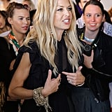 Rachel Zoe at her collection presentation during NY Fashion Week.