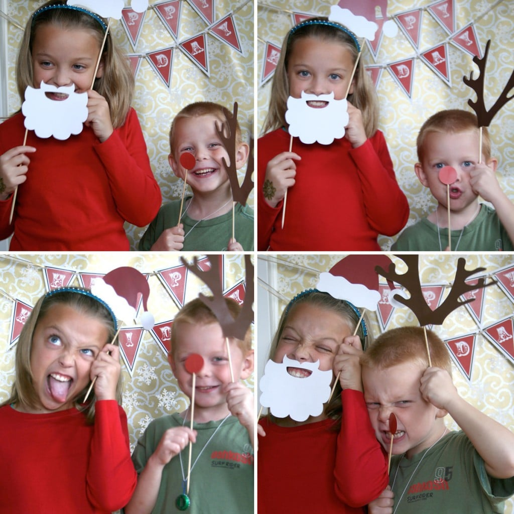 Holiday Printable Photo Booth Props ($10)