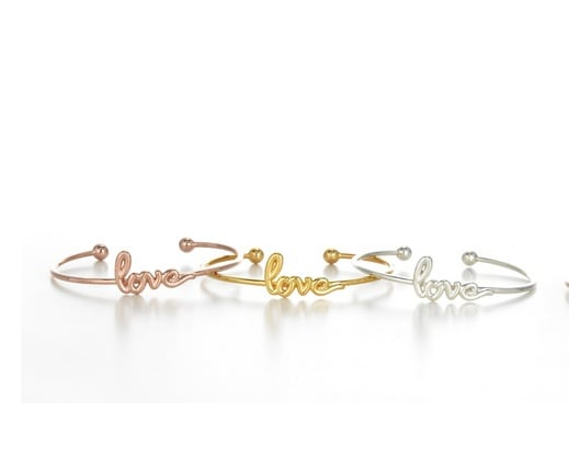 Sarah Chloe Adjustable Love  Bangle
