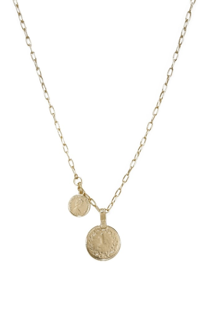 Ettika Double Coin Pendant Necklace