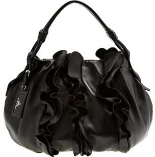 The Look For Less: Prada Nappa Ruffle Hobo