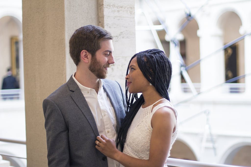 We Love That This Couple Shot Their Engagement Photos at the Harvard Art Museum