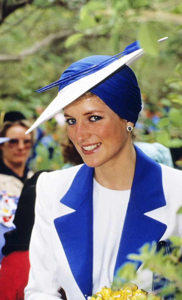Princess Diana Wearing Blue Eyeliner in 1989