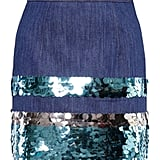 Miu Miu Denim Skirt With Sequins
