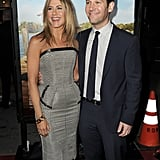 Jennifer Aniston and Paul Rudd were together again for the Feb. 2012 premiere of Wanderlust.