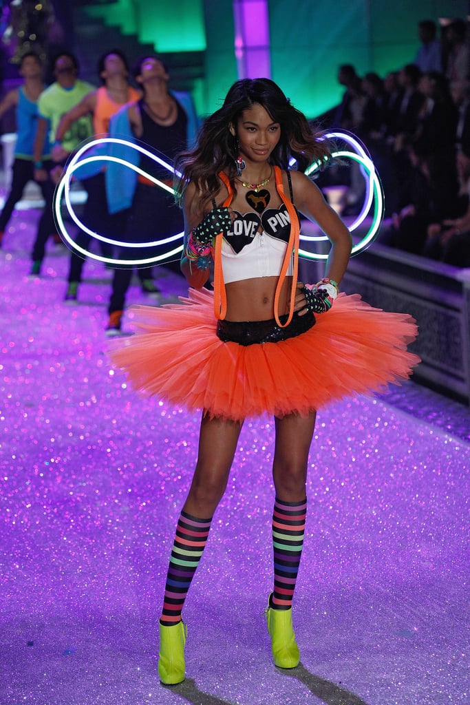 Chanel Iman wore a tutu on the runway in 2011.