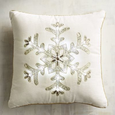 Imports Light-Up Snowflake Pillow ($35)