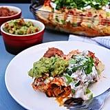 Chicken, Black Bean, Butternut Squash Enchiladas